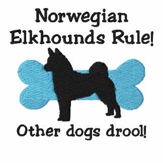Camiseta bordada regla de Elkhounds del noruego