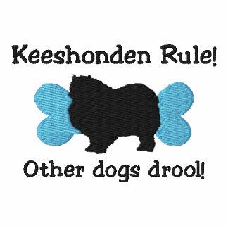Camiseta bordada regla de Keeshonden