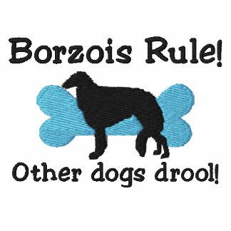 Camiseta bordada regla de los Borzois