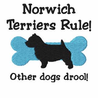 Camiseta bordada regla de los terrieres de Norwich