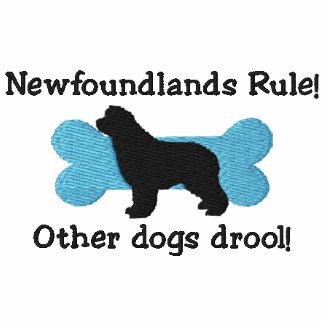 Camiseta bordada regla de Newfoundlands