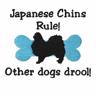 Camiseta bordada regla japonesa de las barbillas