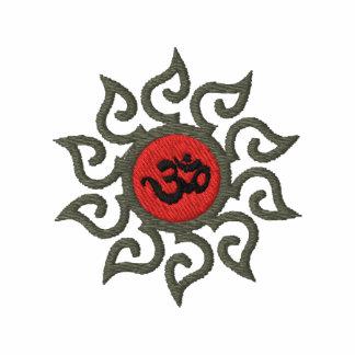 Camiseta bordada símbolo de OM de la yoga