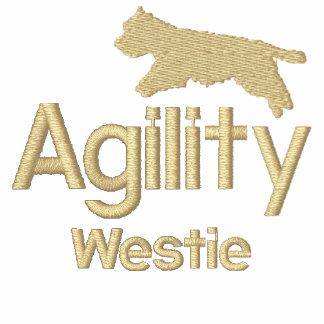 Camiseta bordada Westie de la agilidad