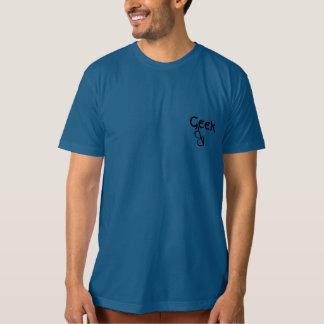 Camiseta bordeada cuerno de los vidrios de Chique Polera