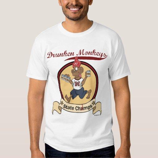 Camiseta borracha de los monos playera
