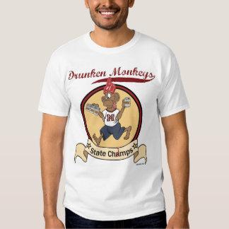 Camiseta borracha de los monos poleras