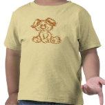 Camiseta borrosa del perrito para los niños