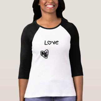 Camiseta bosquejada del amor el | del corazón