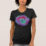 Camiseta brillante de las señoras de las luces de playeras