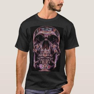 Camiseta brillante del cráneo