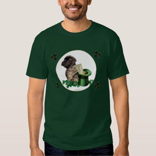 Camiseta Brindle del trébol del perrito del mastín Polera