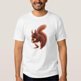 Camiseta británica de la ardilla roja playeras