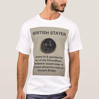 Camiseta británica de la moneda de la foto de
