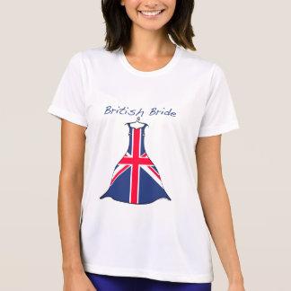 Camiseta británica de la novia