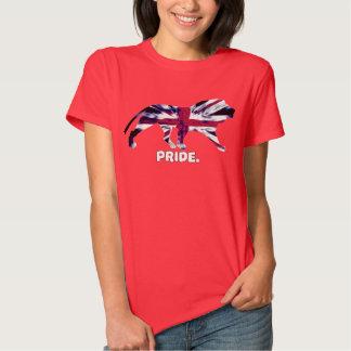 Camiseta británica del orgullo del león de las camisas