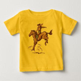 Camiseta Bucking del bebé del vaquero del caballo Poleras