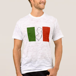 Camiseta cabida bandera italiana de New Jersey