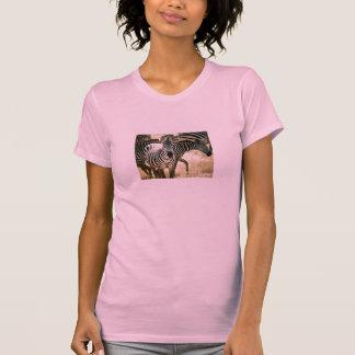 Camiseta cabida cebra de las señoras