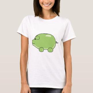 Camiseta cabida cerdo verde