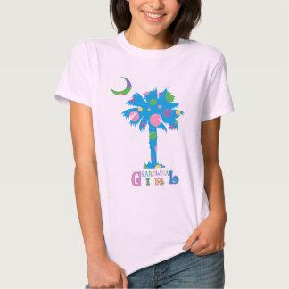 Camiseta cabida lunar del chica de Carolina Remera