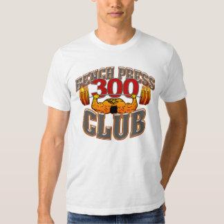 Camiseta cabida prensa de banco de 300 clubs poleras