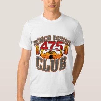 Camiseta cabida prensa de banco de 475 clubs polera