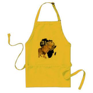 """Camiseta caliente de la bandera de """"África"""", y etc Delantal"""