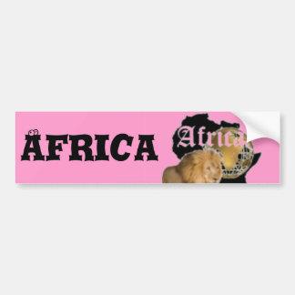 """Camiseta caliente de la bandera de """"África"""", y etc Pegatina Para Auto"""