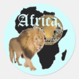 """Camiseta caliente de la bandera de """"África"""", y etc Pegatina Redonda"""