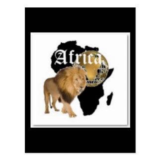 """Camiseta caliente de la bandera de """"África"""", y etc Postales"""
