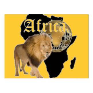 """Camiseta caliente de la bandera de """"África"""", y etc Tarjeta Postal"""