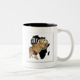 """Camiseta caliente de la bandera de """"África"""", y etc Tazas De Café"""