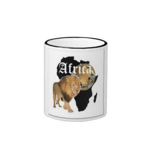 """Camiseta caliente de la bandera de """"África"""", y etc Tazas"""
