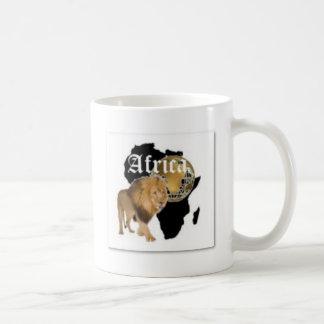 """Camiseta caliente de la bandera de """"África"""", y etc Taza De Café"""