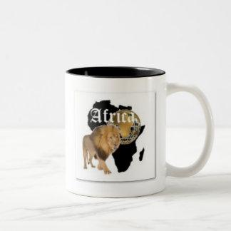 """Camiseta caliente de la bandera de """"África"""", y etc Taza"""