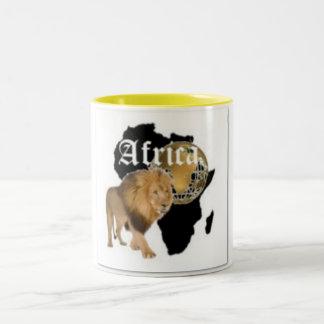 """Camiseta caliente de la bandera de """"África"""", y etc Taza De Dos Tonos"""