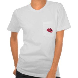 Camiseta caliente de los labios