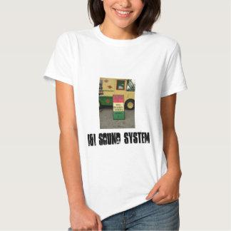 camiseta caliente del galón del sistema de sonido poleras