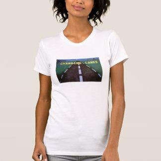 Camiseta cambiante de las señoras de los carriles playera