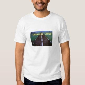 Camiseta cambiante del logotipo de los carriles playera