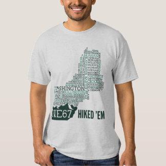 Camiseta caminada de Nueva Inglaterra 67 Camisas