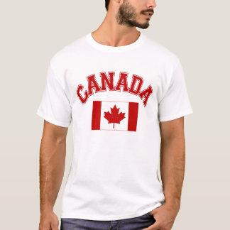 Camiseta canadiense de la bandera