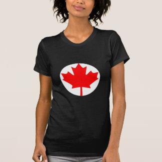 Camiseta canadiense de la bandera de la hoja de