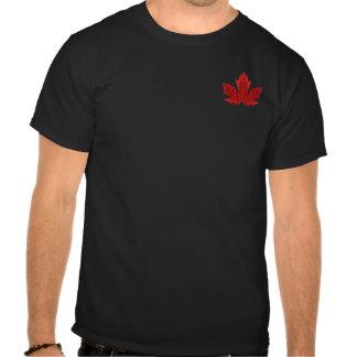 Camiseta canadiense de la hoja de arce