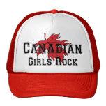 Camiseta canadiense de la roca de los chicas gorros