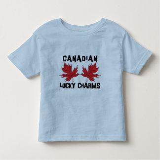 Camiseta canadiense del niño de los encantos playeras