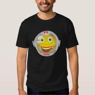 Camiseta canadiense del smiley del astronauta polera