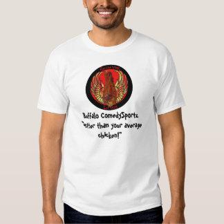 Camiseta candente de ComedySportz Wingz del búfalo Polera