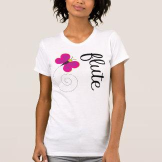 Camiseta caprichosa de la flauta de la mariposa